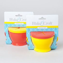 96 Units of Blake & Croft Plastic Snack Pod With Handles - Baby Accessories