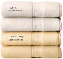 12 Units of Premium Quality GRAND PATRICIAN SUITES White Bath Towels 30 x 56 - Bath Towels
