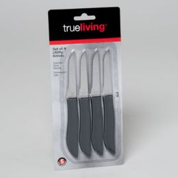144 Units of Knives Utility Set Of 4 Carded True Living - Box Cutters and Blades
