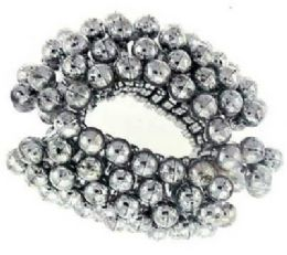 72 Units of Silvertone acrylic beaded bun cover - Hair Scrunchies