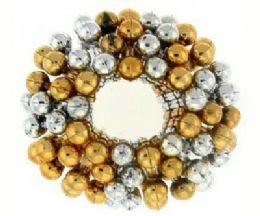 72 Units of Assorted goldtone and silvertone beaded bun cover - Hair Scrunchies