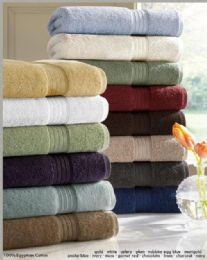 12 Units of Designer Luxury Bath Towels 100% Egyptian Cotton in Moss Green - Bath Towels
