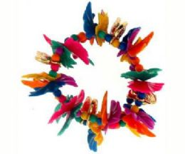 72 Units of Assorted color transparent and translucent petal beads - Hair Scrunchies