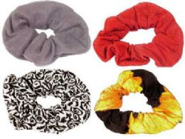 72 Units of Scrunchie assortment - Hair Scrunchies