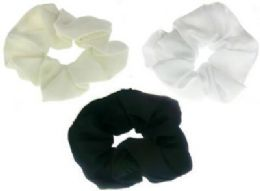 72 Units of Assorted color nylon scrunchies - Hair Scrunchies