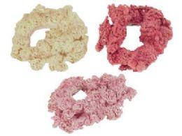 72 Units of Assorted color crochet look scrunchies - Hair Scrunchies
