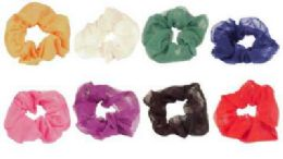 72 Units of Assorted color scrunchies - Hair Scrunchies