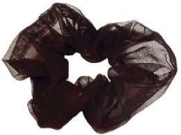 72 Units of Black nylon scrunchies - Hair Scrunchies
