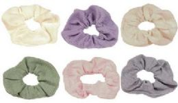 72 Units of assorted pastel colored scrunchies - Hair Scrunchies