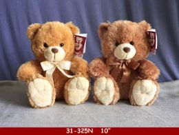 """24 Units of 10"""" Beige And Brown Plush Bear - Plush Toys"""
