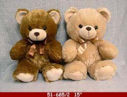 "12 Units of 15"" Soft Plush Bear With Love Heart - Plush Toys"