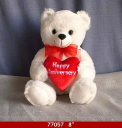 24 Units of Soft Plush Anniversary Bear - Plush Toys