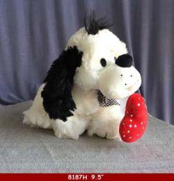 """18 Units of 9.5"""" Plush Cartoon Dog - Plush Toys"""