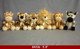 """60 Units of 5.8"""" Plush Wild Animal Toy - Plush Toys"""