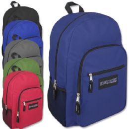 "24 Units of Trailmaker Deluxe 19 Inch Backpack With Padding - 6 Colors - Backpacks 18"" or Larger"