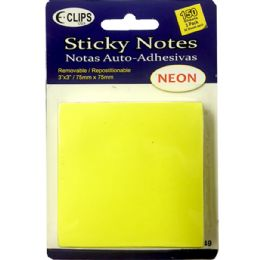 48 Units of 3 Pack Sticky notes, 50 sheets each - Sticky Note & Notepads
