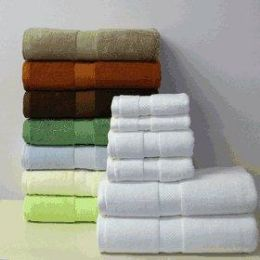 Bamboo Collection Luxury Bath Towel Set in White - Bath Towels