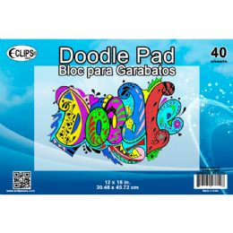 """36 Units of 12"""" x 18"""" Doodle Pad - 40 Sheets - Sketch, Tracing, Drawing & Doodle Pads"""