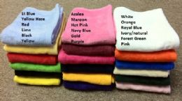 24 Units of Luxury Light Weight Hand Towels in 16 x 25 Hot Pink - Bath Towels