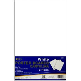 """36 Units of Poster Board - White - 3 sheets - 14"""" x 22"""" - Poster & Foam Boards"""