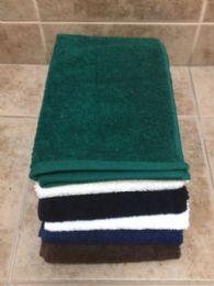 24 Units of Millennium Hand Towels Superior Quality 16 x 30 Hunter Green - Bath Towels
