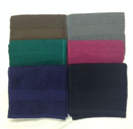 120 Units of Eurocale Bleach Resistant Colored Hand Towels 16 x 27 Chocolate Brown - Bath Towels