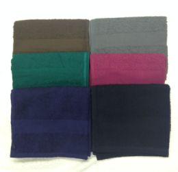 120 Units of Eurocale Bleach Resistant Colored Hand Towels 16 x 27 Black - Bath Towels