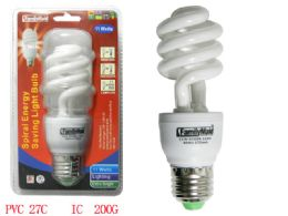 72 Units of 11 Watt Energy Saving Spiral Lightbulb - Lightbulbs