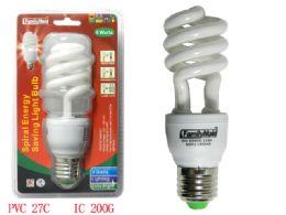 72 Units of 9 Watt Energy Saving Spiral Lightbulb - Lightbulbs