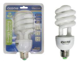 72 Units of 28 Watt Energy Saving Spiral Lightbulb - Lightbulbs