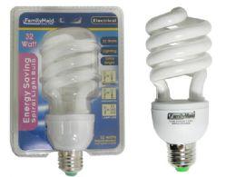 72 Units of 32 Watt Energy Saving Spiral Lightbulb - Lightbulbs