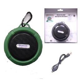 12 Units of WATERPROOF BLUETOOTH SHOWER SPEAKER IN GREEN - Speakers and Microphones