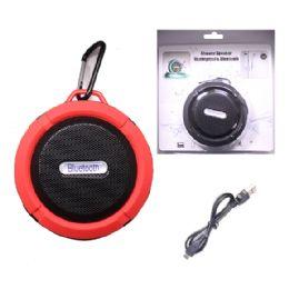 12 Units of WATERPROOF BLUETOOTH SHOWER SPEAKER IN RED - Speakers and Microphones