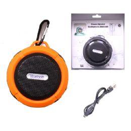 12 Units of WATERPROOF BLUETOOTH SHOWER SPEAKER IN ORANGE - Speakers and Microphones