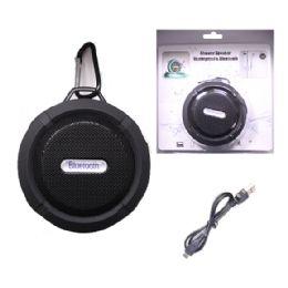 12 Units of WATERPROOF BLUETOOTH SHOWER SPEAKER IN BLACK - Speakers and Microphones