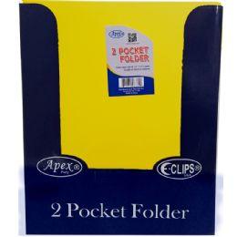 "48 Units of Yellow Premium Plastic 2 Pocket Folders - 9.5"" x 11.5"" - Folders and Report Covers"