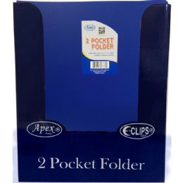 "48 Units of Premium Navy Plastic 2 Pocket Folders - 9.5"" x 11.5"" - Folders & Portfolios"