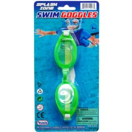 "96 Units of 6"" SWIMMING GOGGLES ON BLISTER CARD - Summer Toys"