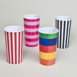 48 Units of 16oz Printed Tumbler - Plastic Drinkware