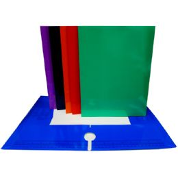 48 Units of 4 Pocket Laminated Folders - Assorted Colors - Folders and Report Covers