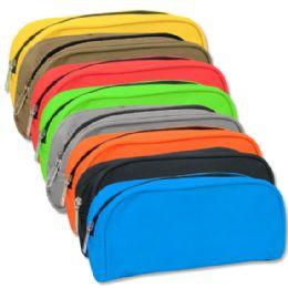 96 Units of Roll Pencil Case - 8 colors - Pencil Boxes & Pouches