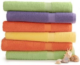 12 Units of Cotton Fade Resistant And Bleach Friendly Luxury Bath Towel In Green Size 30x54 - Beach Towels