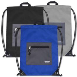 48 Units of Urban Sport 18 Inch Drawstring Bag - 3 Colors - Draw String & Sling Packs