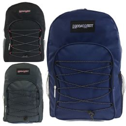 "24 Units of 19"" Bungee Design Backpack Asst Colors - Backpacks 18"" or Larger"