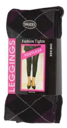 36 Units of One Size Women's Heavy Footless Tights - Womens Tights