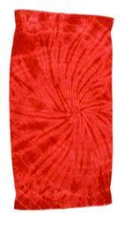 12 Units of Tye Die Beach Towel 30 x 60 Spider Red - Beach Towels