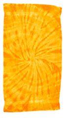 12 Units of Tye Die Beach Towel 30 x 60 Spider Gold - Beach Towels
