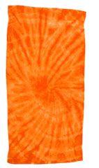 12 Units of Tye Die Beach Towel 30 x 60 Spider Orange - Beach Towels