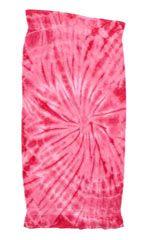 12 Units of Tye Die Beach Towel 30 x 60 Spider Pink - Beach Towels