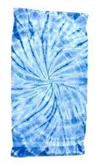 12 Units of Tye Die Beach Towel 30 x 60 Spider Baby Blue - Beach Towels